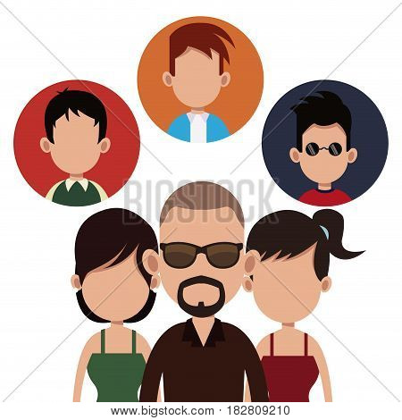 people community society together vector illustration eps 10