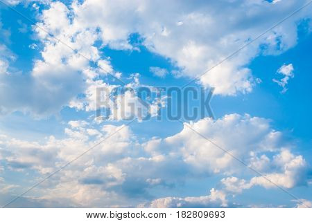 Blue Sky with Cloud Background / Texture