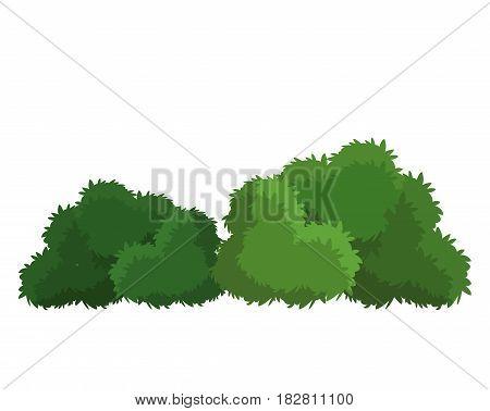 bushes natural wild image vector illustration eps 10