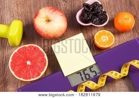 Electronic Bathroom Scale, Centimeter, Healthy Food, Dumbbells For Fitness, Slimming And Healthy Lif