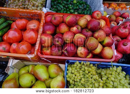 Fruit Market In Moscow, Russia