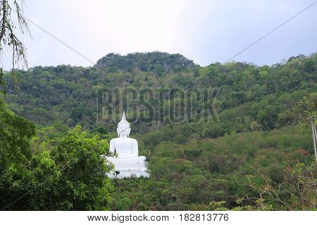 Thai white temple in Wat Thep Phithak Punnaram on holiday - Thailand