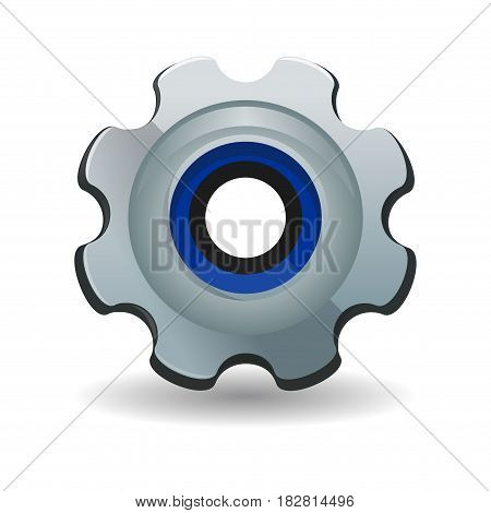 Gear icon. Cogwheel gearwheel rackwheel screw-wheel. Vector illustration isolated on white background