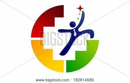 This vector describe about Career Coaching  Logo