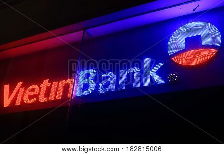 HANOI VIETNAM - NOVEMBER 24, 2016: Vietinbank. Vietinbank is a state-owned Vietnamese bank founded in 1991.