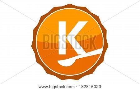This Vector describe about Restaurant Letter K