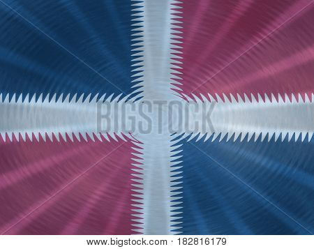 Dominican Republic flag background with ripples and rays illustration