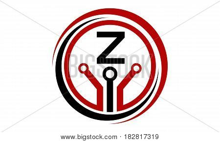This vector describe about Digital World and Electrical Connections Initial Z