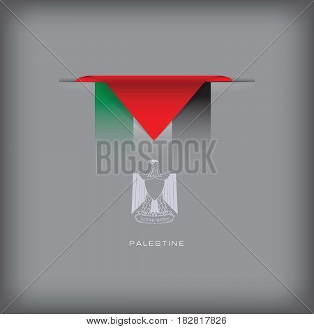 The combination of colors of the national flag Palestine.
