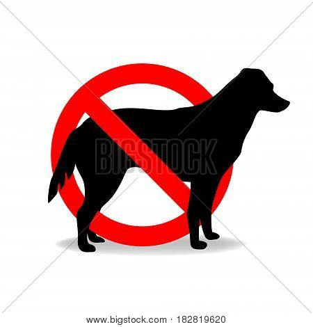 Dogs are not allowed to enter vector sign