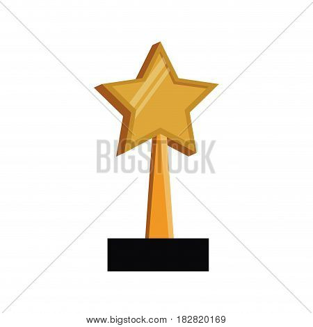 star trophy win prize vector illustration eps 10