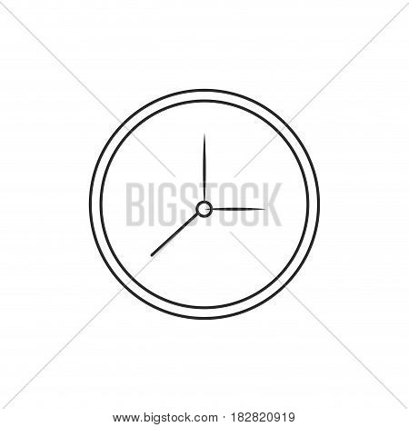 clock watch time icon outline vector illustration eps 10
