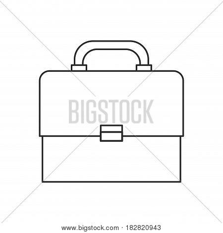 portfolio suitcase document outline vector illustration eps 10