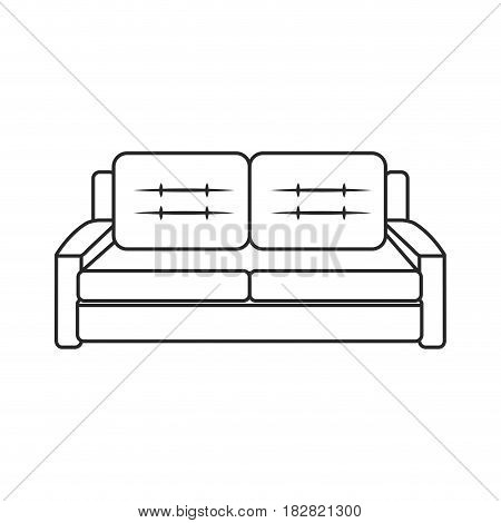 sofa furniture comfort image outline vector illustration eps 10