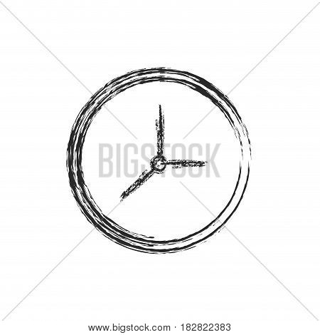 clock watch time icon sketch vector illustration eps 10