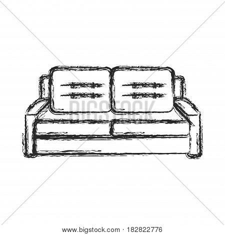 sofa furniture comfort sketch vector illustration eps 10