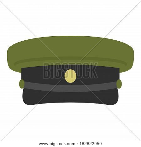 Military hat icon flat isolated on white background vector illustration