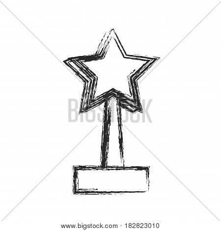 star trophy win prize sketch vector illustration eps 10