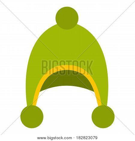 Warm hat icon flat isolated on white background vector illustration