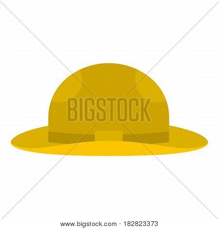Summer hat icon flat isolated on white background vector illustration