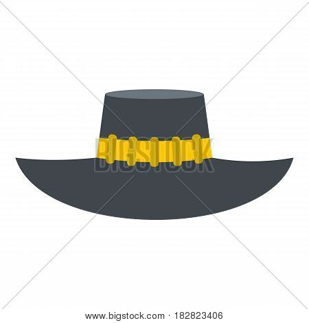 Woman hat icon flat isolated on white background vector illustration