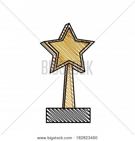 trophy star win image vector illustration eps 10