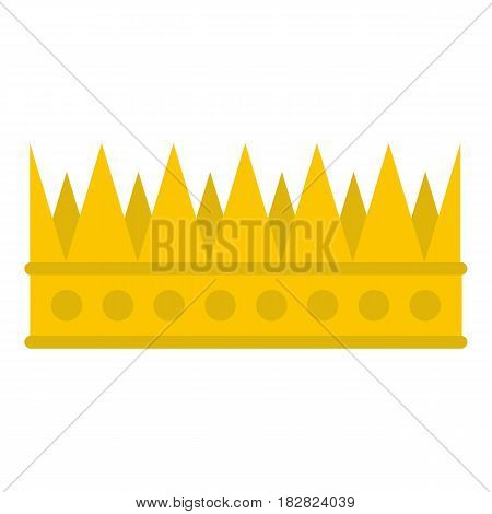 Regal crown icon flat isolated on white background vector illustration