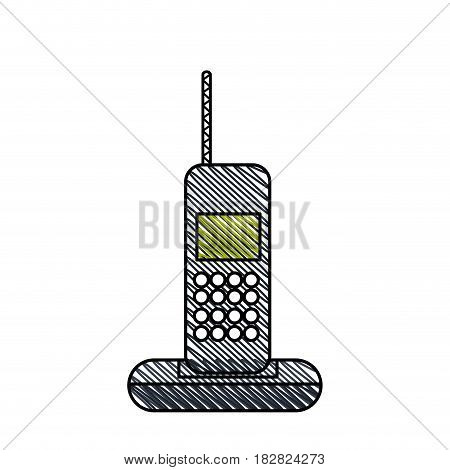 cordless phone technology call vector illustration eps 10