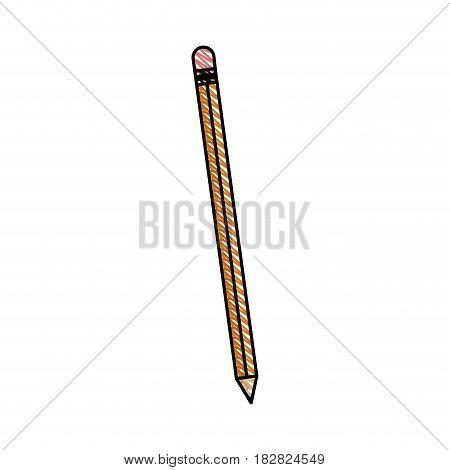 pencil writing wood utensil vector illustration eps 10