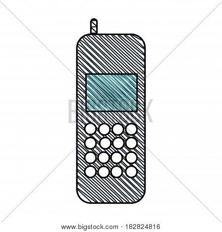 cellphone call communication gadget vector illustration eps 10