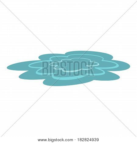 Water puddle icon flat isolated on white background vector illustration