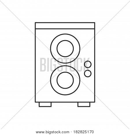 speaker sound audio outline vector illustration eps 10
