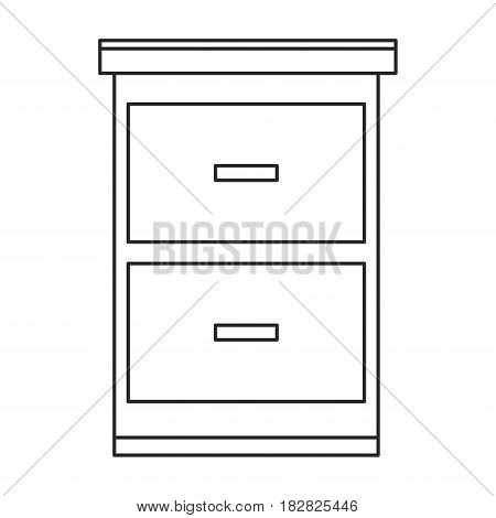 cabinet files paper documents outline vector illustration eps 10