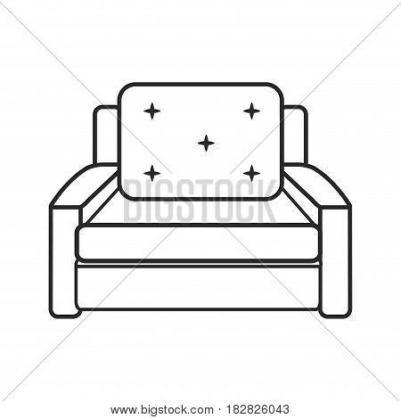 sofa chair comfort furniture outline vector ilustration eps 10
