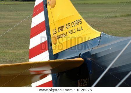 Vintage World War I Biplane Tail