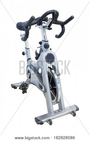 Fitness bycicle close up