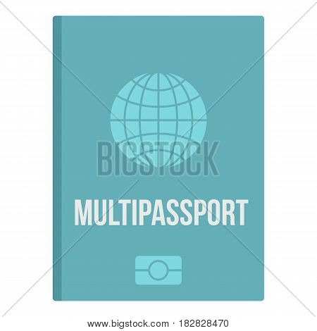 Passport icon flat isolated on white background vector illustration