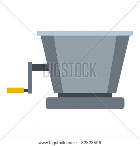 Metal retro juicer or grinder icon flat isolated on white background vector illustration