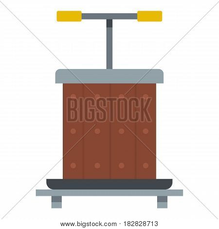 Wine press icon flat isolated on white background vector illustration
