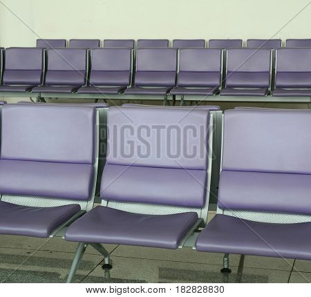 Waiting Chairs At The Boarding Gate Of Airport