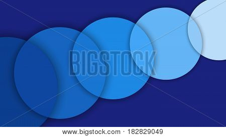 Abstract background with different levels surfaces and circles material design