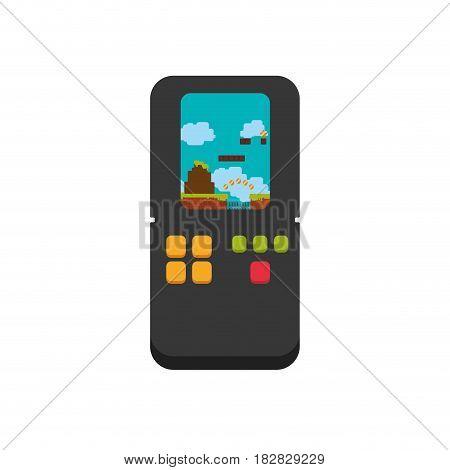 Tetris videogame console icon vector illustration graphic