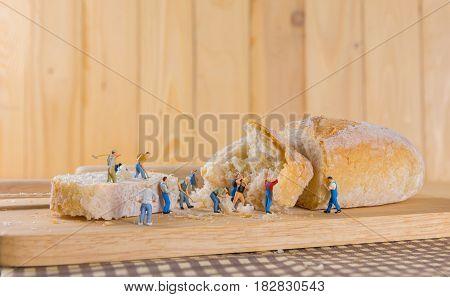 Mini Figure Dolls Baguette Bread .