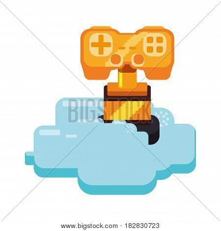 Cup Pixelated videogame vector illustration graphic icon design