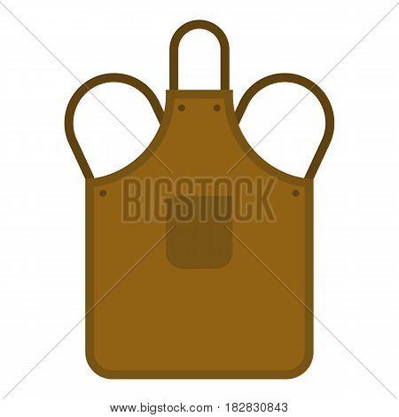 Blacksmiths apron icon flat isolated on white background vector illustration