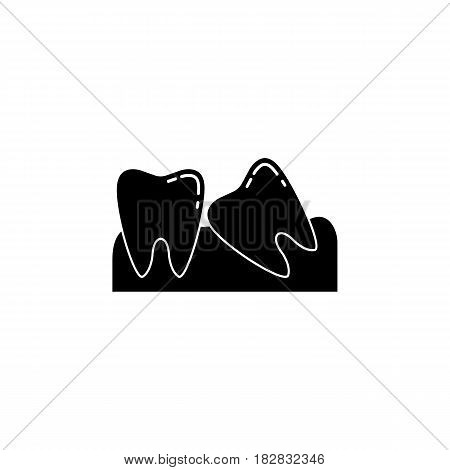 Wisdom teeth solid  icon, Dental and medicine, vector graphics, a filled pattern on a white background, eps 10.