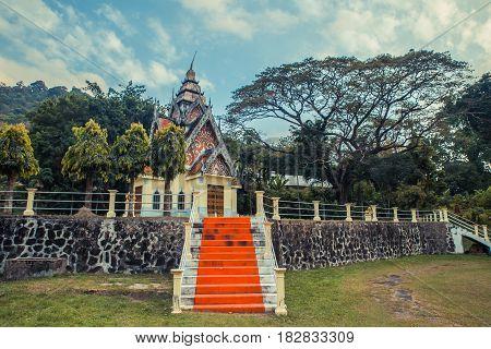Ancient Thai temple. Wat Pa Aram Rattanaram Temple Phuket, Thailand