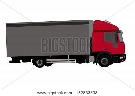 Cargo Delivery Truck. Truck delivery move illustration isolated on a background