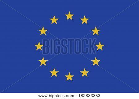 European Union vector flag, Illustration EPS 10