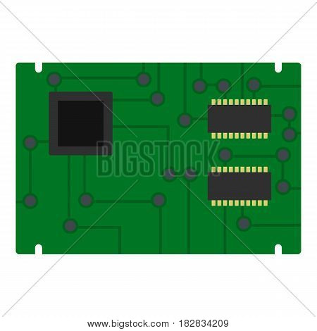 Electronic board icon flat isolated on white background vector illustration